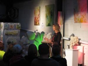 histoire conte au cœur de l'atelier de peinture et sculpture de suzy Lieppe